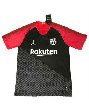 9e318ee4a45 Barcelona Black&Red Training Soccer Jersey 2019-20