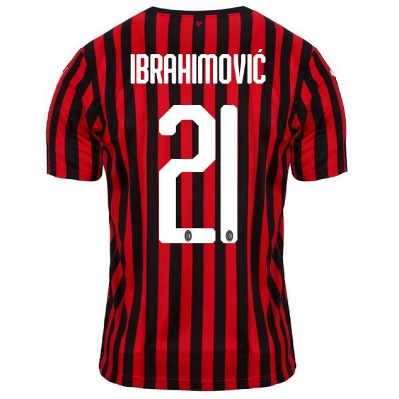 AC Milan Home IBRAHIMOVIC Soccer Shirts 2019-20