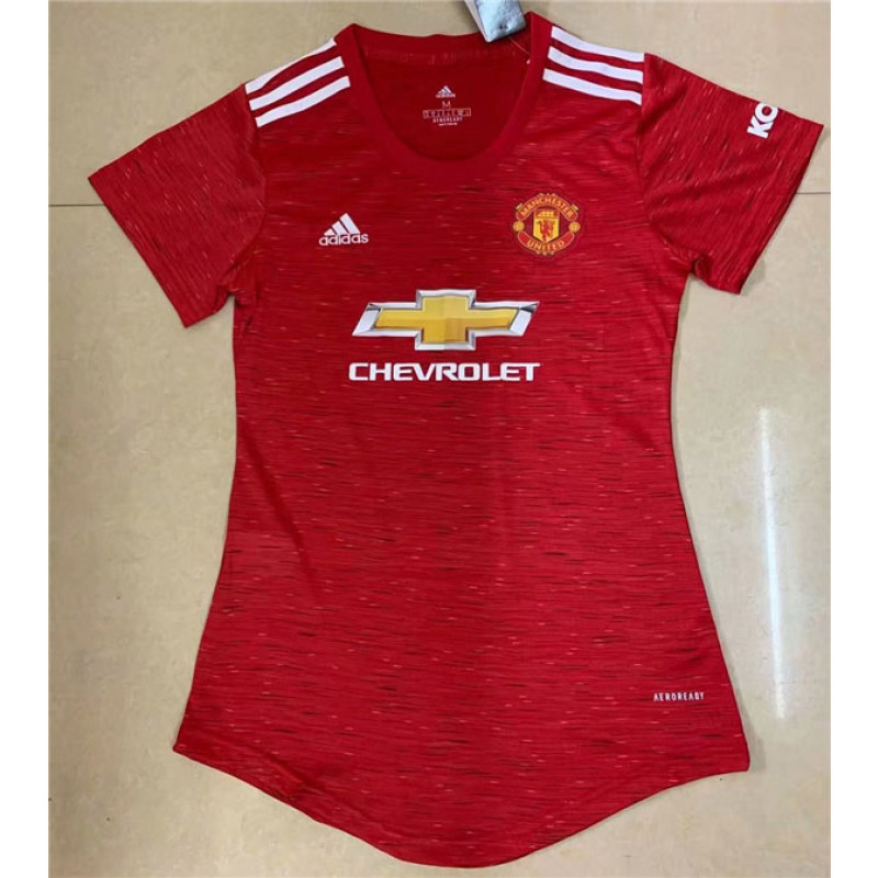 2020/21 Manchester United Home Soccer Jersey For Woman
