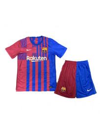 Barcelona Home Kids Soccer Kit 2021-22