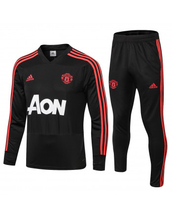 Manchester United Black Training Tracksuit 2018-19
