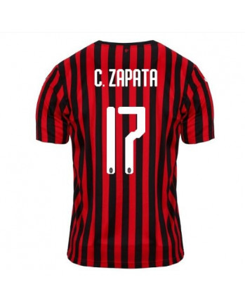 AC Milan Home C. ZAPATA Soccer Jersey 2019-20