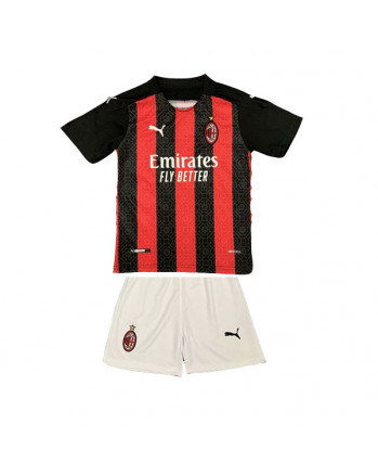AC Milan Home Kids Soccer Kit 2020-21