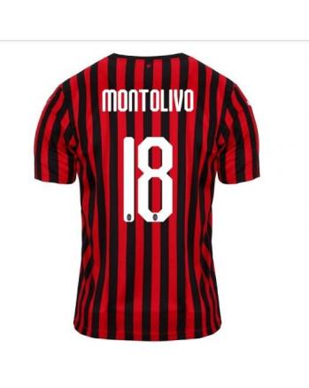 AC Milan Home MONTOLIVO Soccer Jersey 2019-20