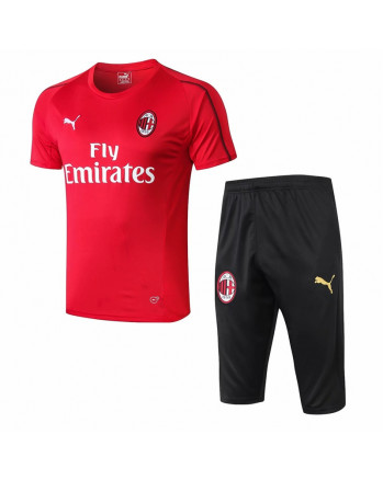 AC Milan Red Training Jersey And Shorts 2019-20