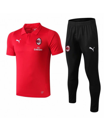 AC Milan Red Training Polo Suit 2019-20