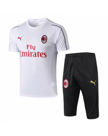 AC Milan White Training Jersey And Shorts 2019-20