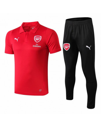 Arsenal Red Training Polo Suit 2019-20