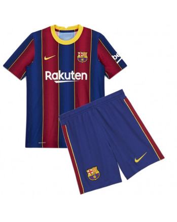 Barcelona Home Kids Soccer Kit 2020-21