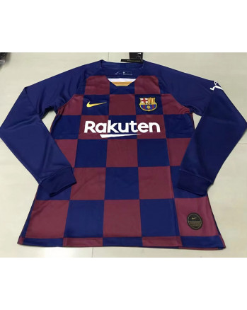Barcelona Home Long Sleeve Soccer Jersey 2019-20