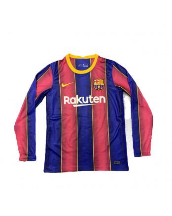 Barcelona Home Long Sleeve Soccer Jersey 2020-21