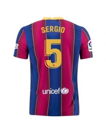 Barcelona Home SERGIO Soccer Jersey 2020-21