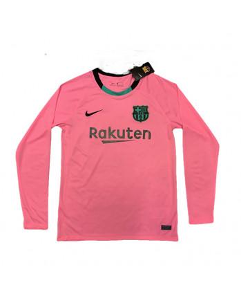Barcelona Third Away Long Sleeve Soccer Jersey 2020-21