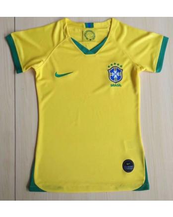 Brazil Home Woman Soccer Jersey 2019-20