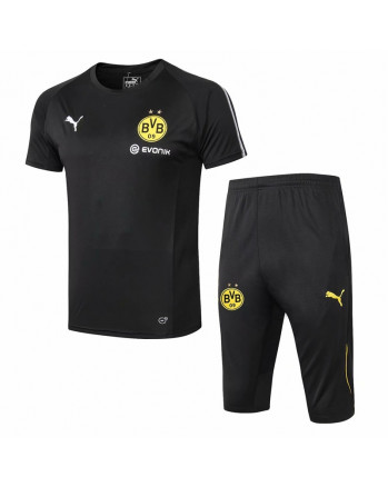Dortmund Black Training Jersey And Shorts 2019-20