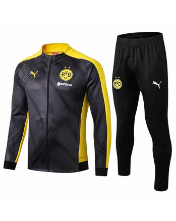 Dortmund Black Training Tracksuit 2019-20
