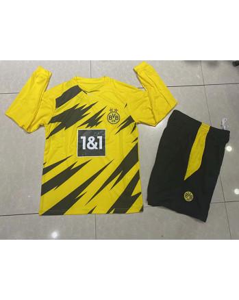 Dortmund Home Long Sleeve Soccer Jersey 2020-21