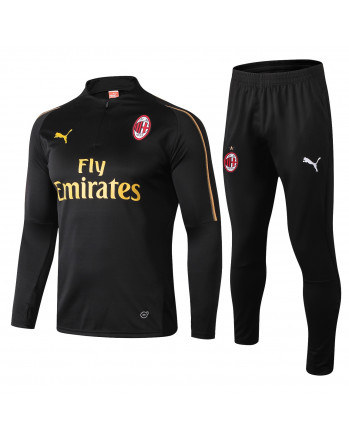 AC milan black training tracksuit 2018-19