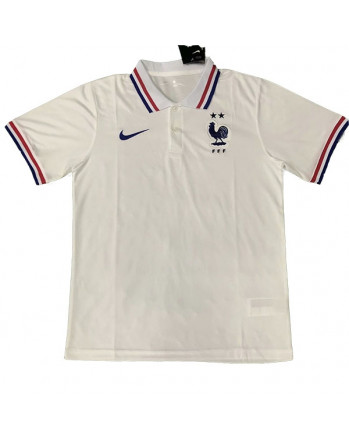 France White Polo Training Shirt 2020-21