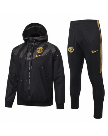 Inter Black Training Tracksuit 2019-20