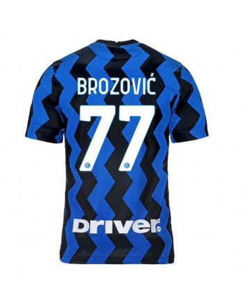 Inter Home BROZOVIC Soccer Jersey 2020-21