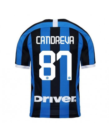 Inter Home CANDREVA Soccer Jersey 2019-20