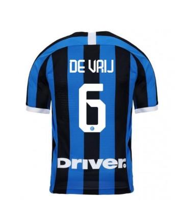Inter Milan Home DE VRIJ Soccer Jersey 2019-20