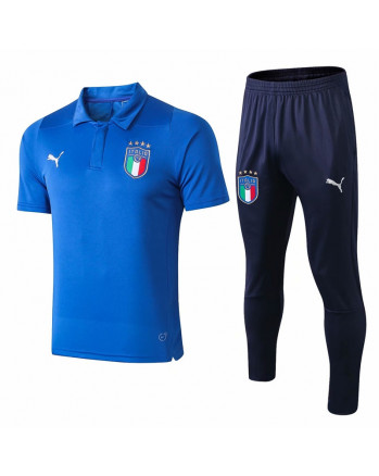 Italy Blue Training Polo Suit 2019-20