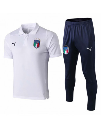 Italy White Training Polo Suit 2019-20