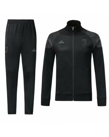 Juventus Black Stand Collar Training Tracksuit 2018-19