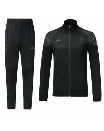 Juventus Black Stand Collar Training Tracksuit 2018-19