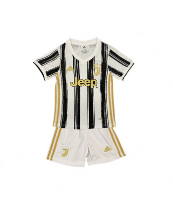 Juventus Home Kids Soccer Kit 2020-21