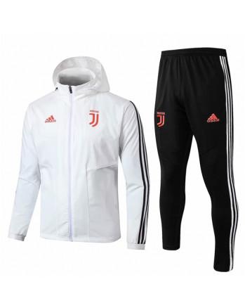 Juventus White Hoodie Training Tracksuit 2019-20