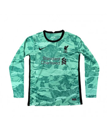 Liverpool Away Long Sleeve Soccer Jersey 2020-21