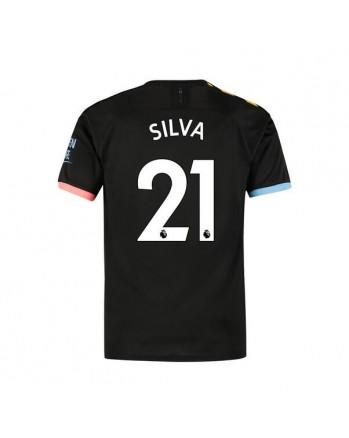 Manchester City Away SILVA Soccer Jersey 2019-20