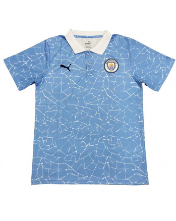 Manchester City Blue Polo Training Shirt 2020-21