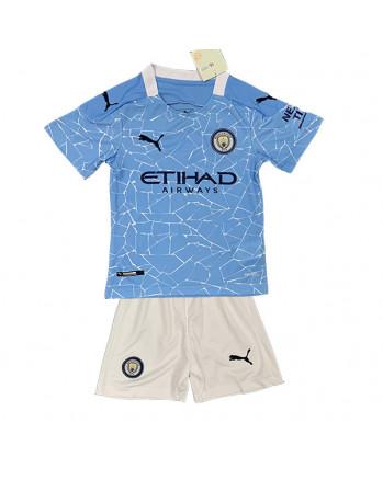 Manchester City Home Kids Soccer Kit 2020-21