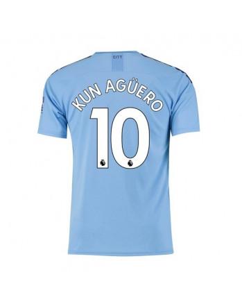 Manchester City Home KUN AGUERO Soccer Jersey 2019-20