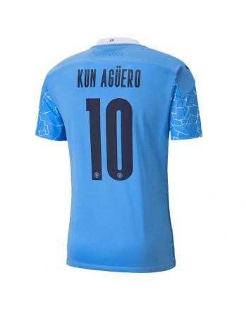 Manchester City Home KUN AGUERO Soccer Jersey 2020-21