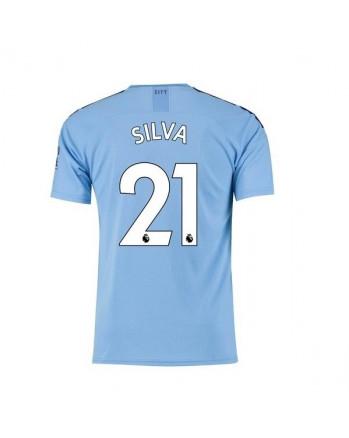 Manchester City Home SILVA Soccer Jersey 2019-20