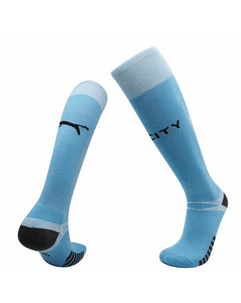 Manchester City Home Soccer Socks 2020-21