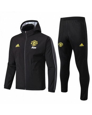 Manchester United Black Training Tracksuit 2019-20