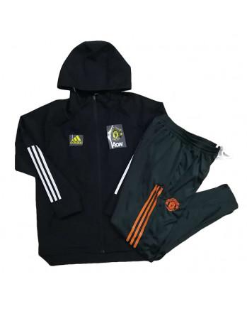Manchester United Black Training Tracksuit 2020-21