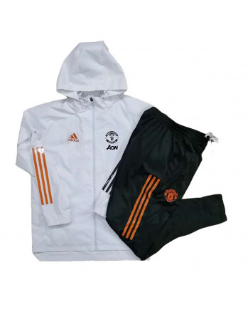 Manchester United White Training Tracksuit 2020-21