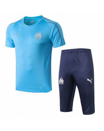 Marseille Blue Training Jersey And Shorts 2019-20