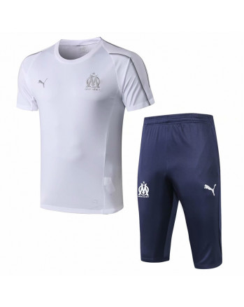 Marseille White Training Jersey And Shorts 2019-20