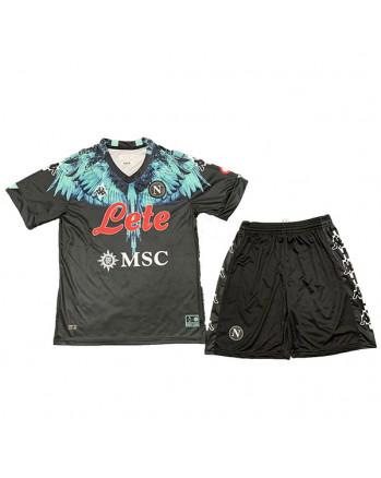 Napoli Kappa × Marcelo Burlon Home Kids Soccer Kit 2021-22