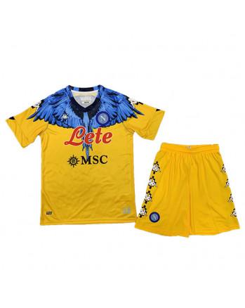 Napoli Kappa × Marcelo Burlon Yellow Kids Soccer Kit 2021-22