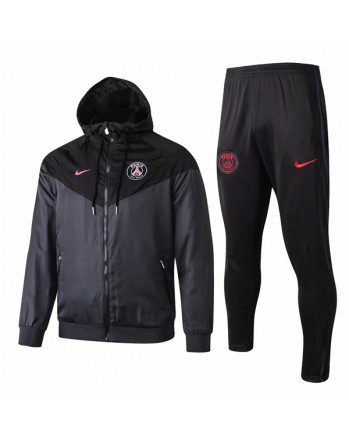 Paris SG Black Training Tracksuit 2019-20