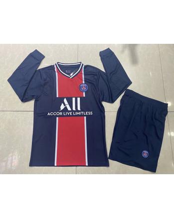 Paris SG Home Long Sleeve Soccer Jersey 2020-21